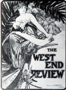 Vintage Art Deco Movie Poster 'The West End Review'